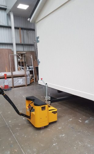 Mobile Home on electric tug