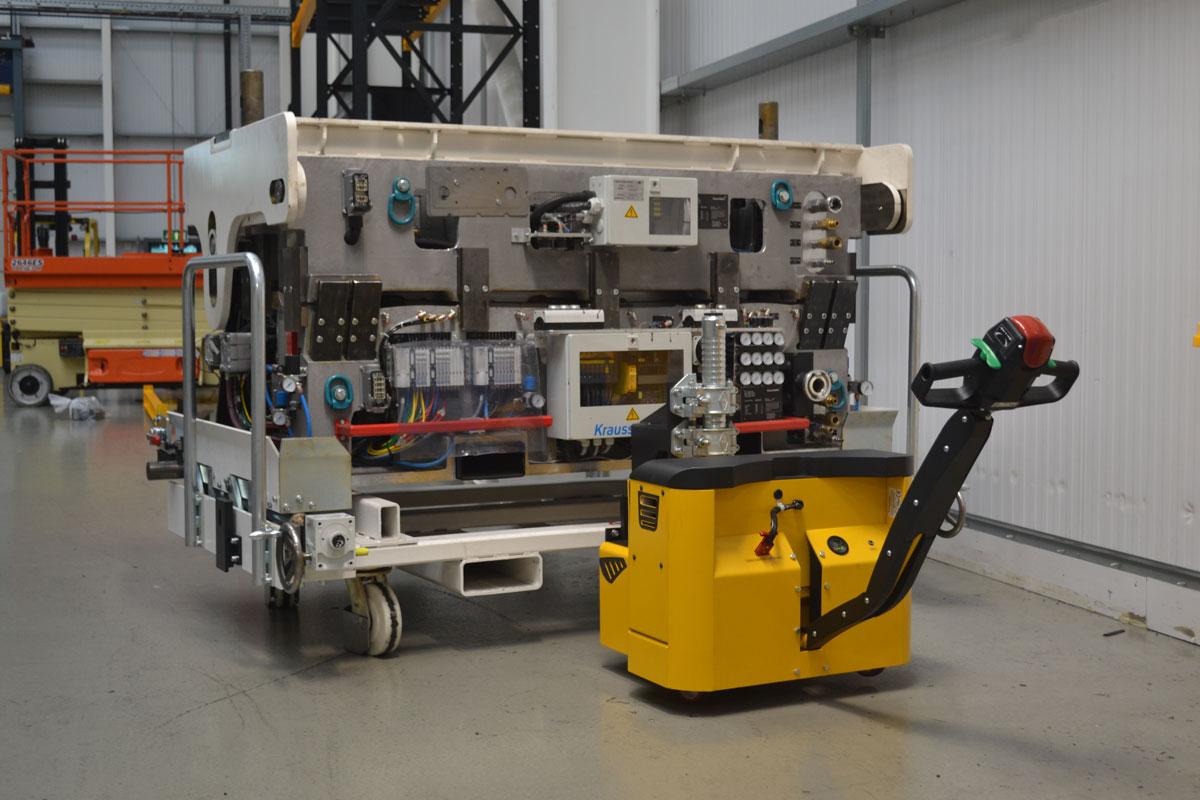 Major MotorMover electric tug material handling in manufacturing