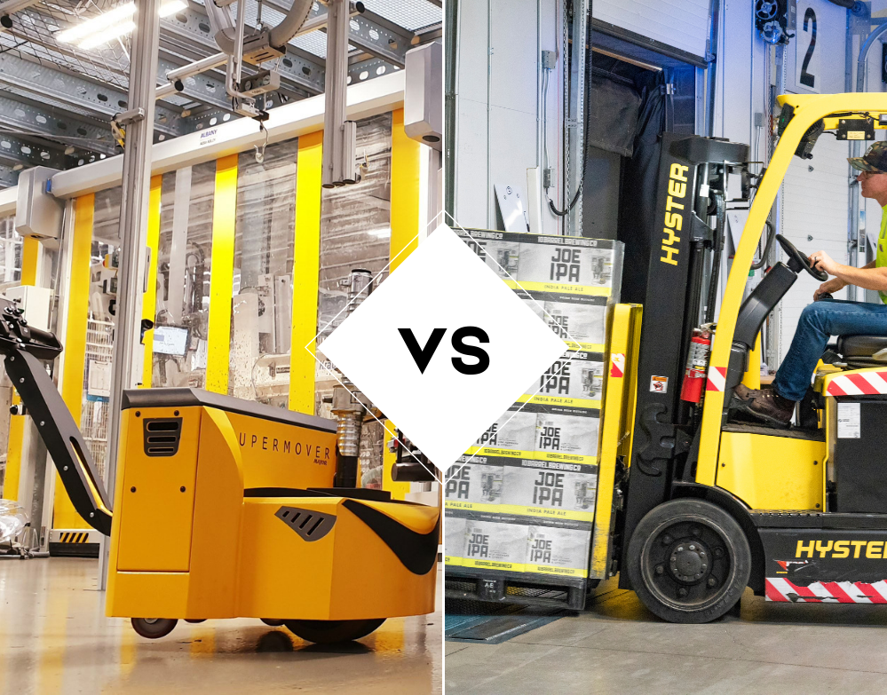 Electric Tow Tug VS Forklifts